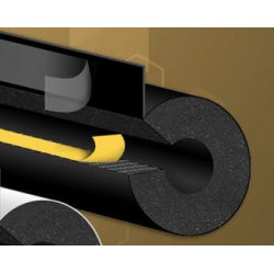 28x13 mm zwart buisisolatie UV plak overlap